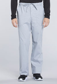 Men's Tapered Leg Drawstring Cargo Pant (WW190T-GRY)