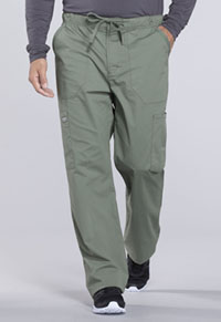 Men's Tapered Leg Drawstring Cargo Pant (WW190T-OLV)