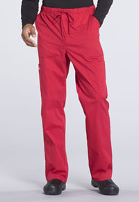 Men's Tapered Leg Drawstring Cargo Pant (WW190T-RED)
