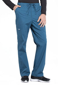 Cherokee Workwear Men's Tapered Leg Drawstring Cargo Pant Caribbean Blue (WW190-CAR)