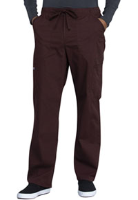 Cherokee Workwear Men's Tapered Leg Drawstring Cargo Pant Espresso (WW190-ESP)