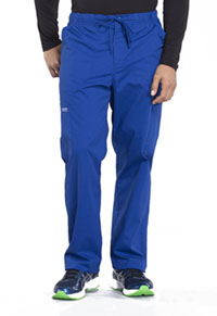 Cherokee Workwear Men's Tapered Leg Drawstring Cargo Pant Galaxy Blue (WW190-GAB)