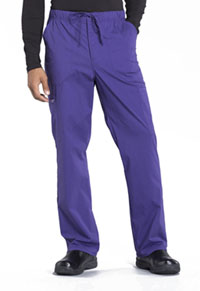 Cherokee Workwear Men's Tapered Leg Drawstring Cargo Pant Grape (WW190-GRP)