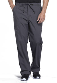 Cherokee Workwear Men's Tapered Leg Drawstring Cargo Pant Pewter (WW190-PWT)
