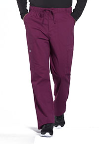 Cherokee Workwear Men's Tapered Leg Fly Front Cargo Pant Wine (WW190-WIN)