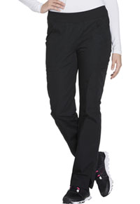 Mid Rise Straight Leg Pull-on Cargo Pant (WW210P-BLKW)