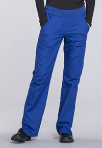 Cherokee Workwear Mid Rise Straight Leg Pull-on Cargo Pant Galaxy Blue (WW210-GABW)