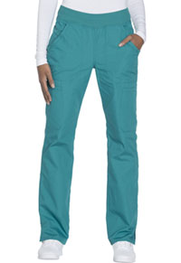 Cherokee Workwear Mid Rise Straight Leg Pull-on Cargo Pant Teal Blue (WW210-TLBW)