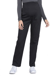 Cherokee Workwear Maternity Straight Leg Pant Black (WW220-BLK)