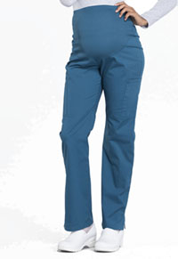 Cherokee Workwear Maternity Straight Leg Pant Caribbean Blue (WW220-CAR)