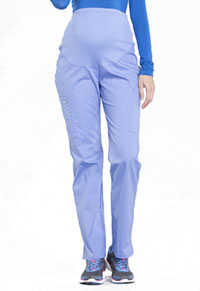 Cherokee Workwear Maternity Straight Leg Pant Ciel Blue (WW220-CIE)