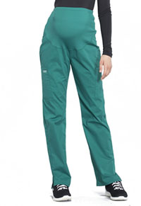 Cherokee Workwear Maternity Straight Leg Pant Hunter Green (WW220-HUN)