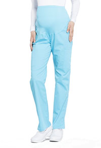 Cherokee Workwear Maternity Straight Leg Pant Turquoise (WW220-TRQ)