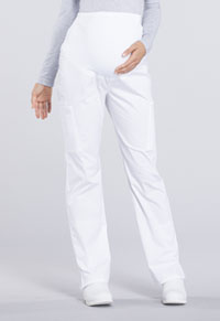 Cherokee Workwear Maternity Straight Leg Pant White (WW220-WHT)