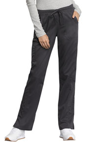 Cherokee Workwear Mid Rise Straight Leg Drawstring Pant Pewter (WW235AB-PWT)