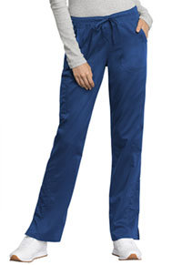Cherokee Workwear Mid Rise Straight Leg Drawstring Pant Royal (WW235AB-ROY)