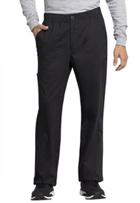 Cherokee Workwear Men's Mid Rise Straight Leg Zip Fly Pant Black (WW250AB-BLK)