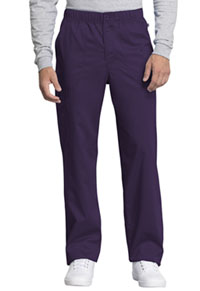 Cherokee Workwear Men's Mid Rise Straight Leg Zip Fly Pant Eggplant (WW250AB-EGG)