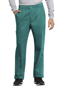 Cherokee Workwear Men's Mid Rise Straight Leg Zip Fly Pant Teal Blue (WW250AB-TLB)