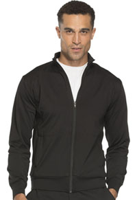 Cherokee Workwear Unisex Zip Front Warm -up Jacket Black (WW300-BLK)