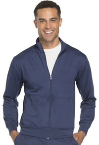 Cherokee Workwear Unisex Zip Front Warm -up Knit Jacket Navy (WW300-NAV)
