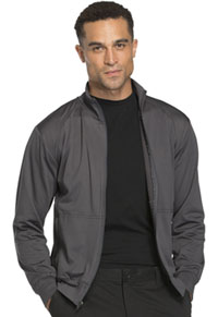 Cherokee Workwear Unisex Zip Front Warm -up Knit Jacket Pewter (WW300-PWT)