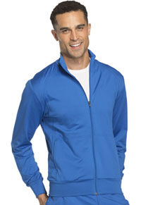 Cherokee Workwear Unisex Zip Front Warm -up Knit Jacket Royal (WW300-ROY)