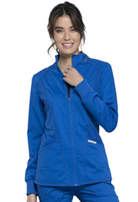 Cherokee Workwear Zip Front High-Low Jacket Royal (WW301-ROY)