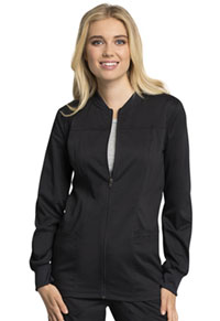 Cherokee Workwear Zip Front Jacket Black (WW305AB-BLK)