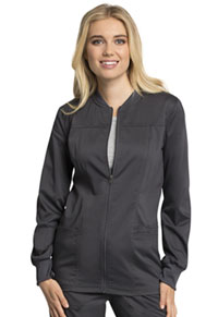 Cherokee Workwear Zip Front Jacket Pewter (WW305AB-PWT)