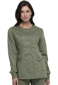 Cherokee Workwear Snap Front Jacket Olive (WW310-OLV)