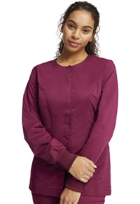 Cherokee Workwear Snap Front Jacket Wine (WW310-WIN)
