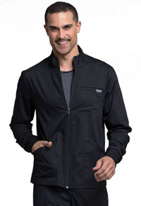 Cherokee Workwear Men's Zip Front Jacket Black (WW320-BLK)
