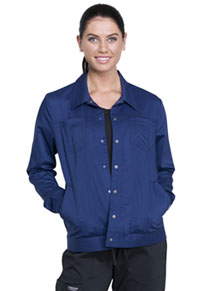 Cherokee Workwear Trucker Jacket Navy (WW325-NAV)