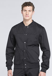 Cherokee Workwear Men's Snap Front Jacket Black (WW330-BLKW)