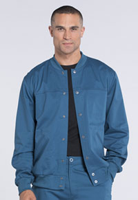 Cherokee Workwear Men's Warm-up Jacket Caribbean Blue (WW330-CARW)