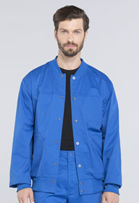 Cherokee Workwear Men's Snap Front Jacket Royal (WW330-ROYW)
