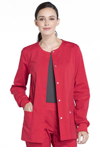 Cherokee Workwear Snap Front Jacket Red (WW340-RED)