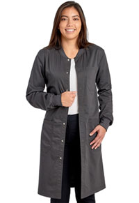 Cherokee Workwear Unisex 40 Snap Front Lab Coat Pewter (WW350AB-PWT)