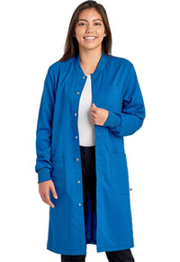 Cherokee Workwear Unisex 40 Snap Front Lab Coat Royal (WW350AB-ROY)
