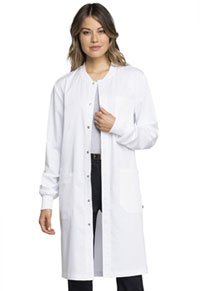 Cherokee Workwear Unisex 40 Snap Front Lab Coat White (WW350AB-WHT)
