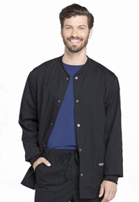 Workwear WW Professionals Men's Snap Front Jacket (WW360-BLK) (WW360-BLK)