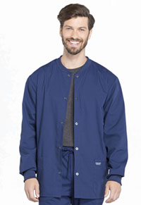 Workwear WW Professionals Men's Snap Front Jacket (WW360-NAV) (WW360-NAV)