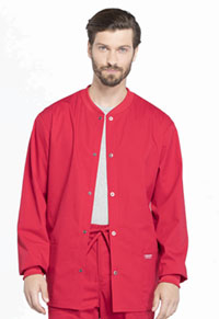 Workwear WW Professionals Men's Snap Front Jacket (WW360-RED) (WW360-RED)