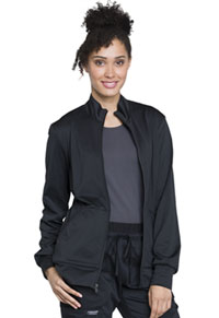 Cherokee Workwear Unisex Zip Front Knit Jacket Black (WW370-BLK)
