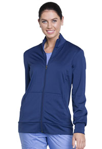 Cherokee Workwear Unisex Zip Front Knit Jacket Navy (WW370-NAV)