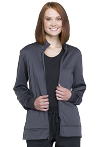 Cherokee Workwear Unisex Zip Front Knit Jacket Pewter (WW370-PWT)