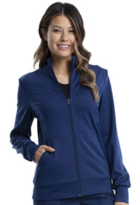 Cherokee Workwear Zip Front Knit Jacket Navy (WW371-NAV)