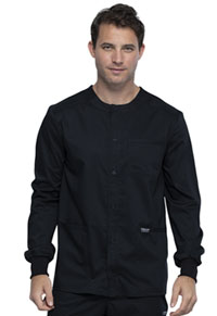 Cherokee Workwear Men's Snap Front Jacket Black (WW380-BLK)