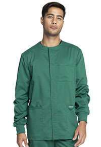 Cherokee Workwear Men's Snap Front Jacket Hunter Green (WW380-HUN)